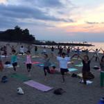 sunset yoga morito beach
